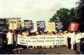 demonstration against plastic bags